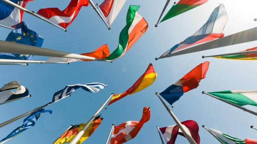 Fahnen europäischer Länder