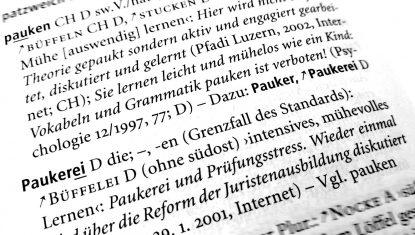 Auszug aus dem Variantenwörterbuch des Deutschen